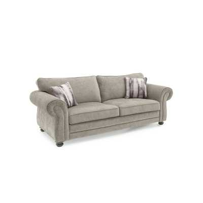 Hollins 3 Seater Fixed Mink (2 scatter cushions)