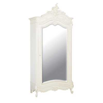 Chateau Shabby Chic Armoire French Carved White Bedroom Furniture