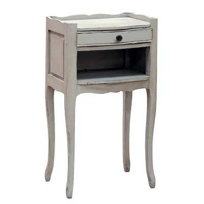 Portofino Shabby Chic 1 Drawer Open Bedside Table Chest Art Nouveau