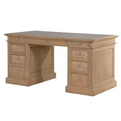 Villeneuve Oak Partner Small Desk