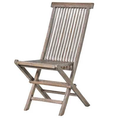 Grey Teak Folding Chair