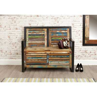 IRF20B Baumhaus Urban Chic Shoe Hallway Storage Monks Bench with Lid