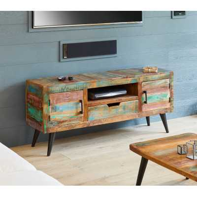 IRS09A Baumhaus Coastal Chic Widescreen TV Cabinet