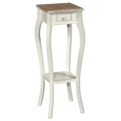 Tono White With Wash Top Telephone Table Small