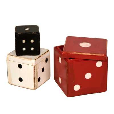 Set Of 3 Small Box Dice