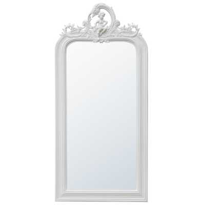White Wooden Floor Mirror