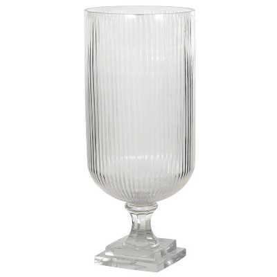 Tall Striped Glass Vase