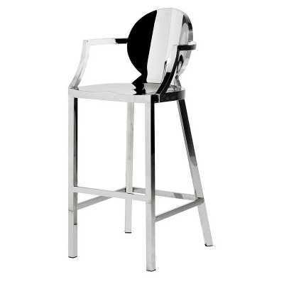 contemporary metal furniture. free delivery new terano contemporary metal barstool with arms furniture