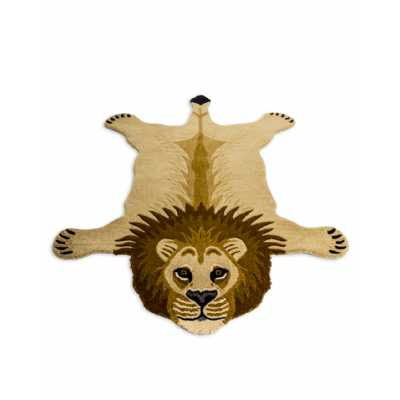 Hand Tufted Extra Large Lion 'Skin' Woollen Rug