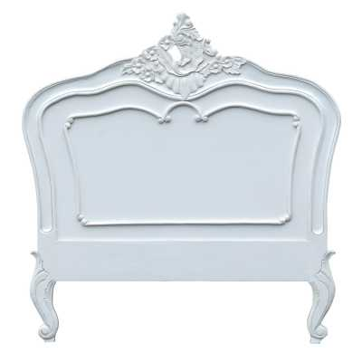 Single White Painted French Style Headboard