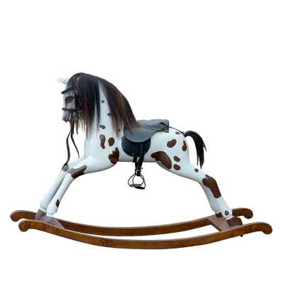 Traditional Vintage Style Childrens Patch Rocking Horse