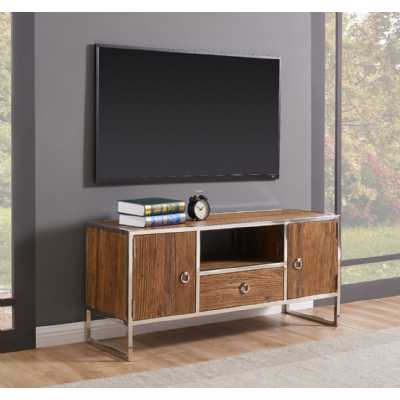 Modern Malmo TV Unit Elmwood 2 Door Entertainment Cabinet