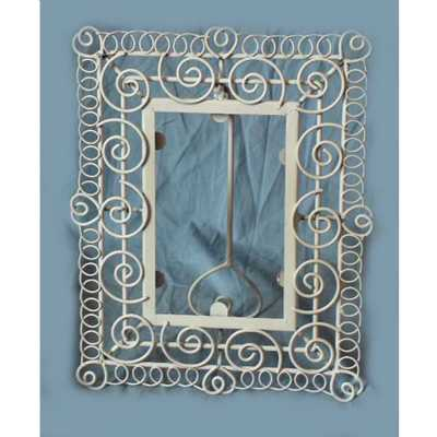 Antique White Iron Picture Or Photo Frame