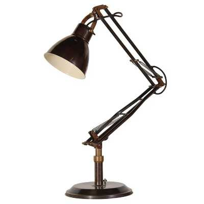 Trending Black and Brass Angled Table Lamp