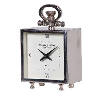 Quality Decorative Luxurious Square Steel Mantel Clock