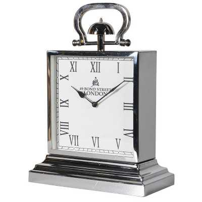 Retro Square Steel Mantel Clock