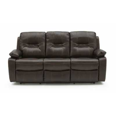 Kennedy 3 Seater Recliner Brown