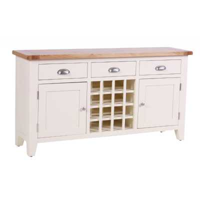 Vancouver Expressions Linen 3 Drawer 2 Door Wine Table