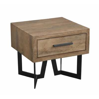 london urban chic parquet oak 1 drawer lamp table