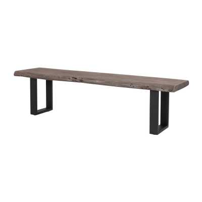 Oslo Vintage Brown Organic Bench