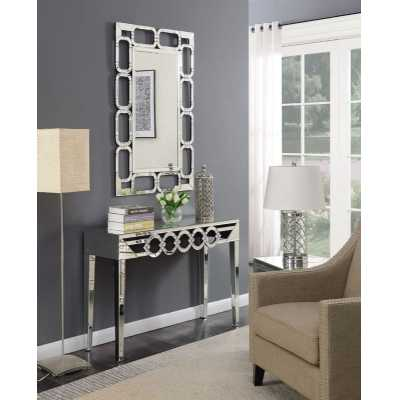 Loughton Mirror Glass Console Table And Wall Mirror Set