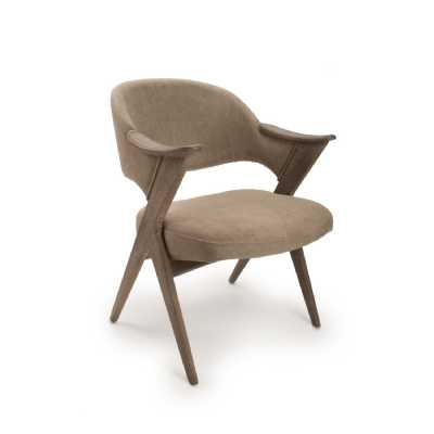 Louis Grande V Frame Accent Chair Natural