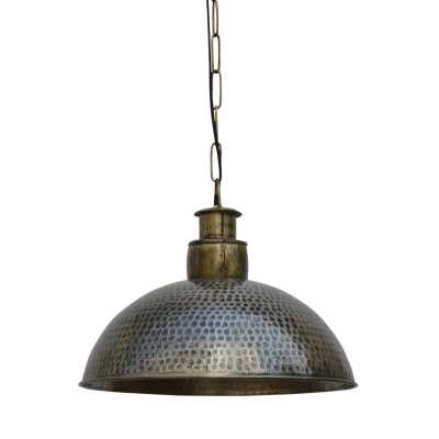 Railway Leather Furniture Nickle And Brass Hammered Pendant Cargo Light