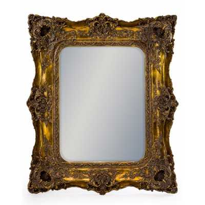 Square French Style Large Wall Mirror with Gold Classic Ornate Frame