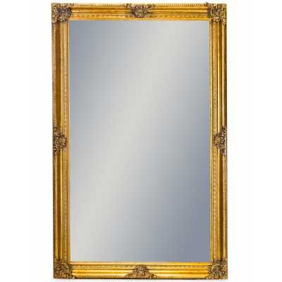 Extra Large Classic Wall Mirror with Rectangular Gold Frame