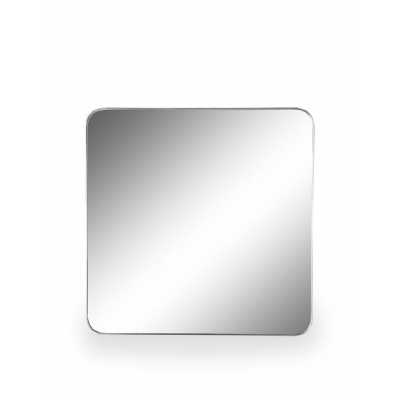 Large 70cm Square Silver Thin Framed Arden Wall Mirror