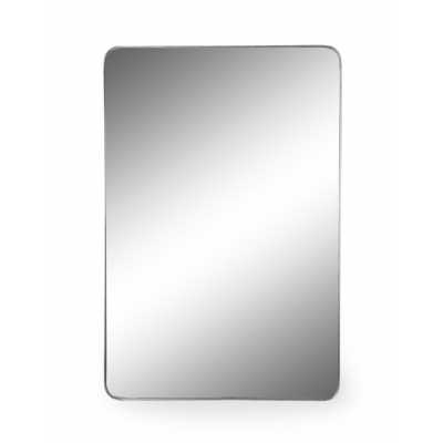 Large Rectangular Silver Thin Framed Arden Wall Mirror 120x80cm Glass