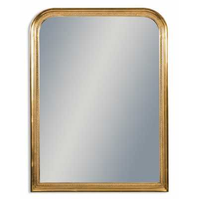 Antique Gold Beaded Portrait Wall Mirror