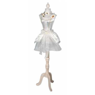 White And Lemon Ballerina Dressed Decorative Mannequin