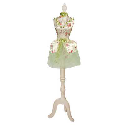 Green Floral Ballerina Dressed Decorative Mannequin
