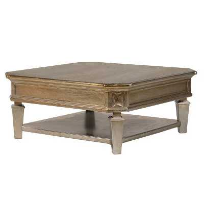 Midas Gold Effect Square Coffee Table