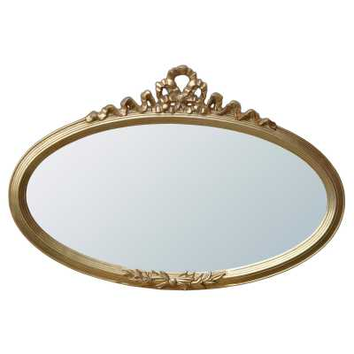Overmantle Oval Gold Ribbon Mirror