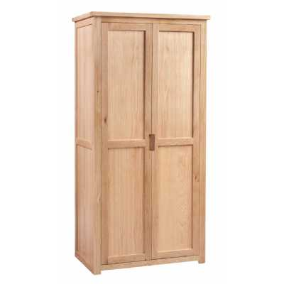 Light Oak Double Wardrobe 2 Door Ladies Robe Moderna Collection
