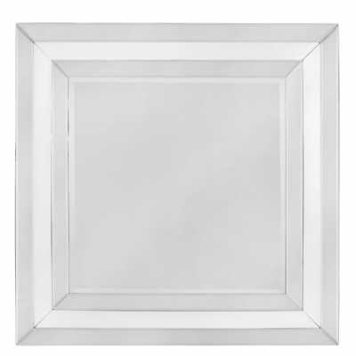 White Glass Wall Mirror
