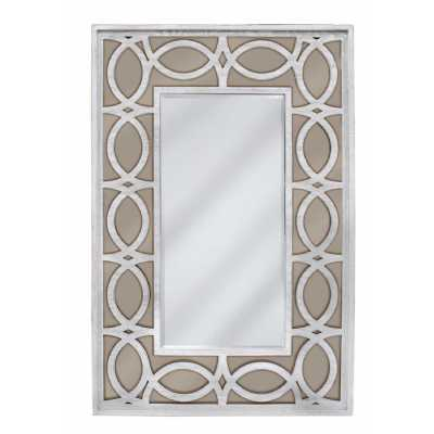 Aspen Washed Ash And Champagne Wall Mirror