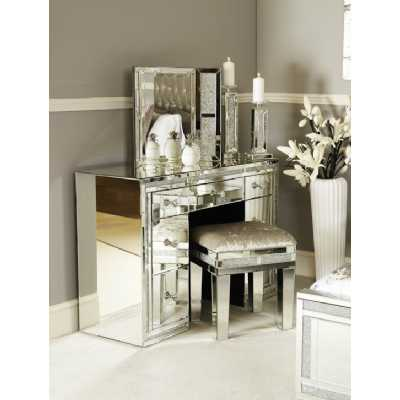 Crystal Diamond Mirrored Glass 7 Drawer Dressing Table