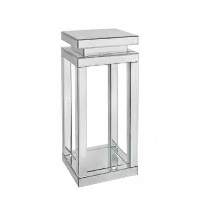 Medium Parker Mirrored Glass Pillar Lamp or Bedside Table Plant Stand