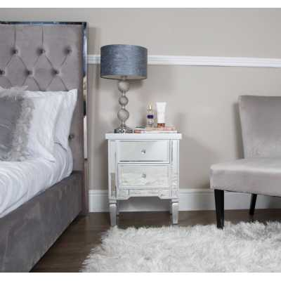 Value Vista Silver Bedside Cabinet