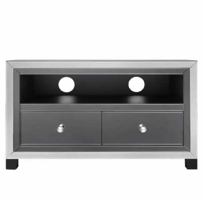 Value Omnia Smoked And Clear Mirror Entertainment Unit