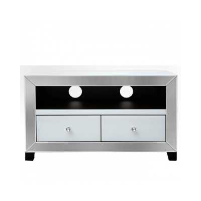 Value Omnia White And Clear Mirror Entertainment Unit