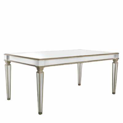 Large Champagne Gold Apollo Mirrored Glass Dining Table