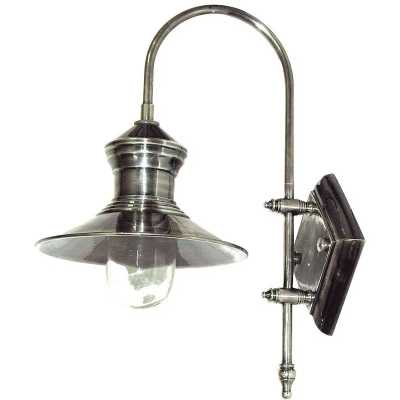 Decorative Modern Pewter Ships Wall Light