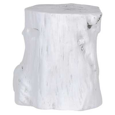 Distressed Wooden White Stool