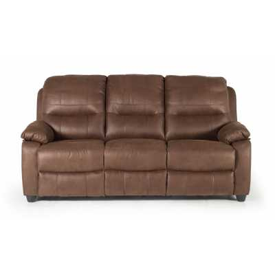 Morley 3 Seater Fixed Dark Brown