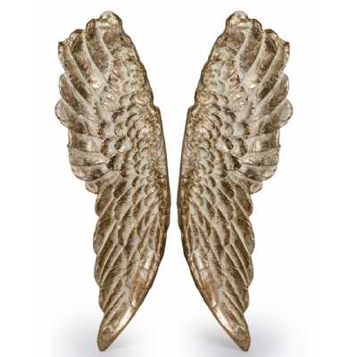 Gilded Pair Of Wings Extra Large Stone Effect Angel Wings