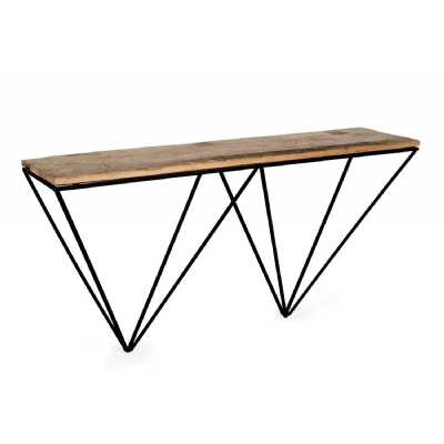 The Cosgrove Collection Console Table with Geometric Frame